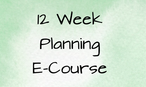 12 Week Planning E-Course For 3rd Quarter