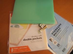 Meal Planner Folder Materials