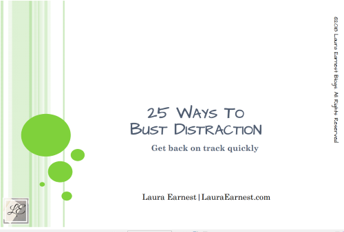 25 Ways To Bust Distraction