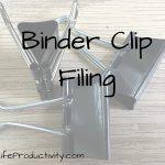 Binder Clip Filing