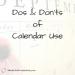 CalendarUse