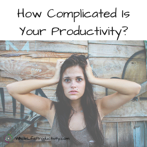 How Complicated Is Your Productivity?