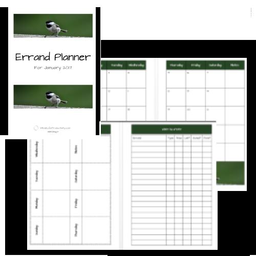 2017-18 Errand Planner (Jul 2017-Jun 2018)