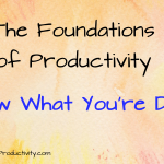 Know What You're Doing: Foundations of Productivity