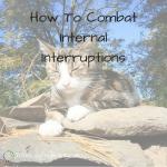 How To Combat Internal Interruptions