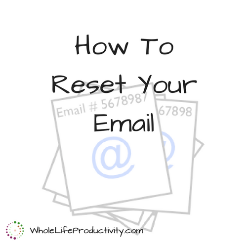 How To Reset Your Email