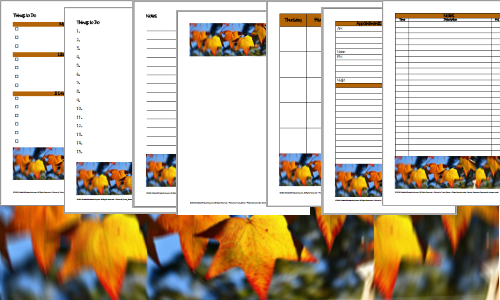 Autumn Leaves Planner