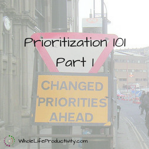 Prioritization 101 – Part 1