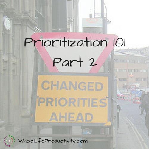 Prioritization 101 Part 2