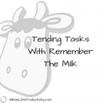 Tending Tasks With Remember The Milk