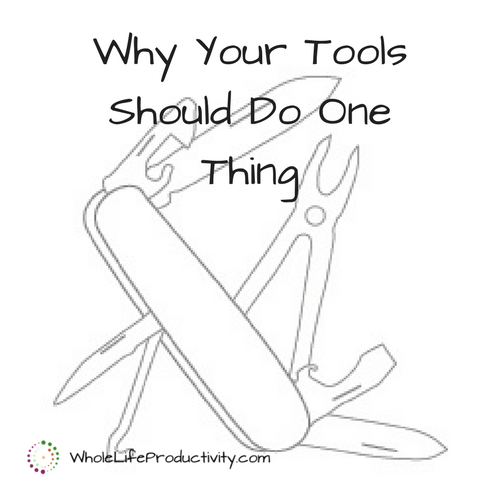 Productivity Tools: Why Your Tools Should Do One Thing