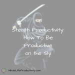 Stealth Productivity: How To Be Productive on the Sly