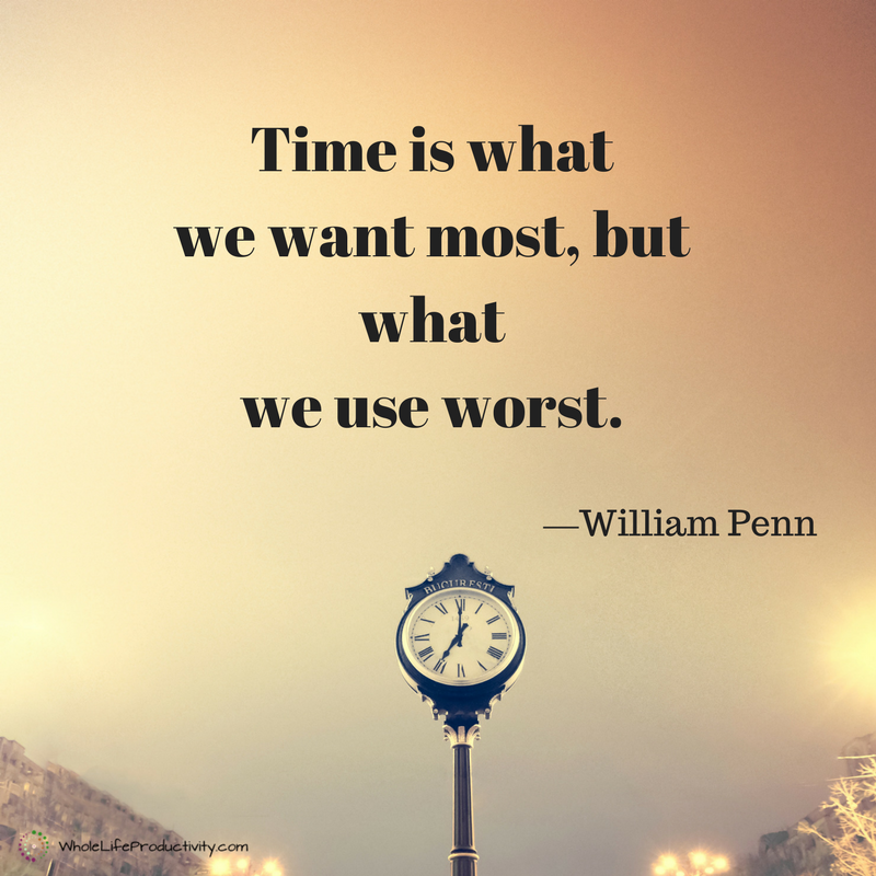 Time is what we want most